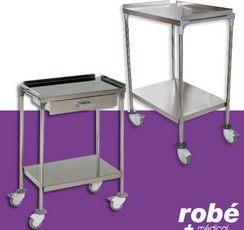 Un robuste chariot et guéridon médical - Robé médical