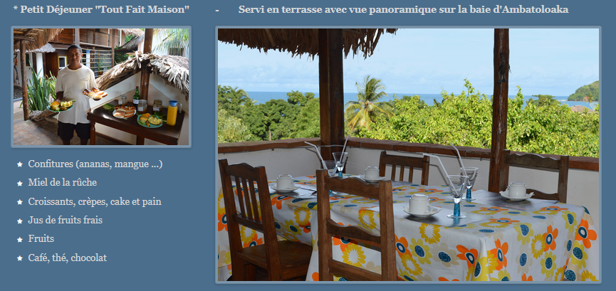 A découvrir (vers Madagascar): séjours à l'hôtel restaurant Les Boucaniers